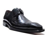 Mezlan Giancomo Men's Dressy Lace Up Eel Skin Shoes Black