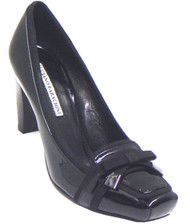 Women's Barachini Dressy Mid Heel Italian patent/suede pump 12262