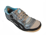 Women's Leather Lace up Sneakers Boutique By Cushe Color Silver/ Argent