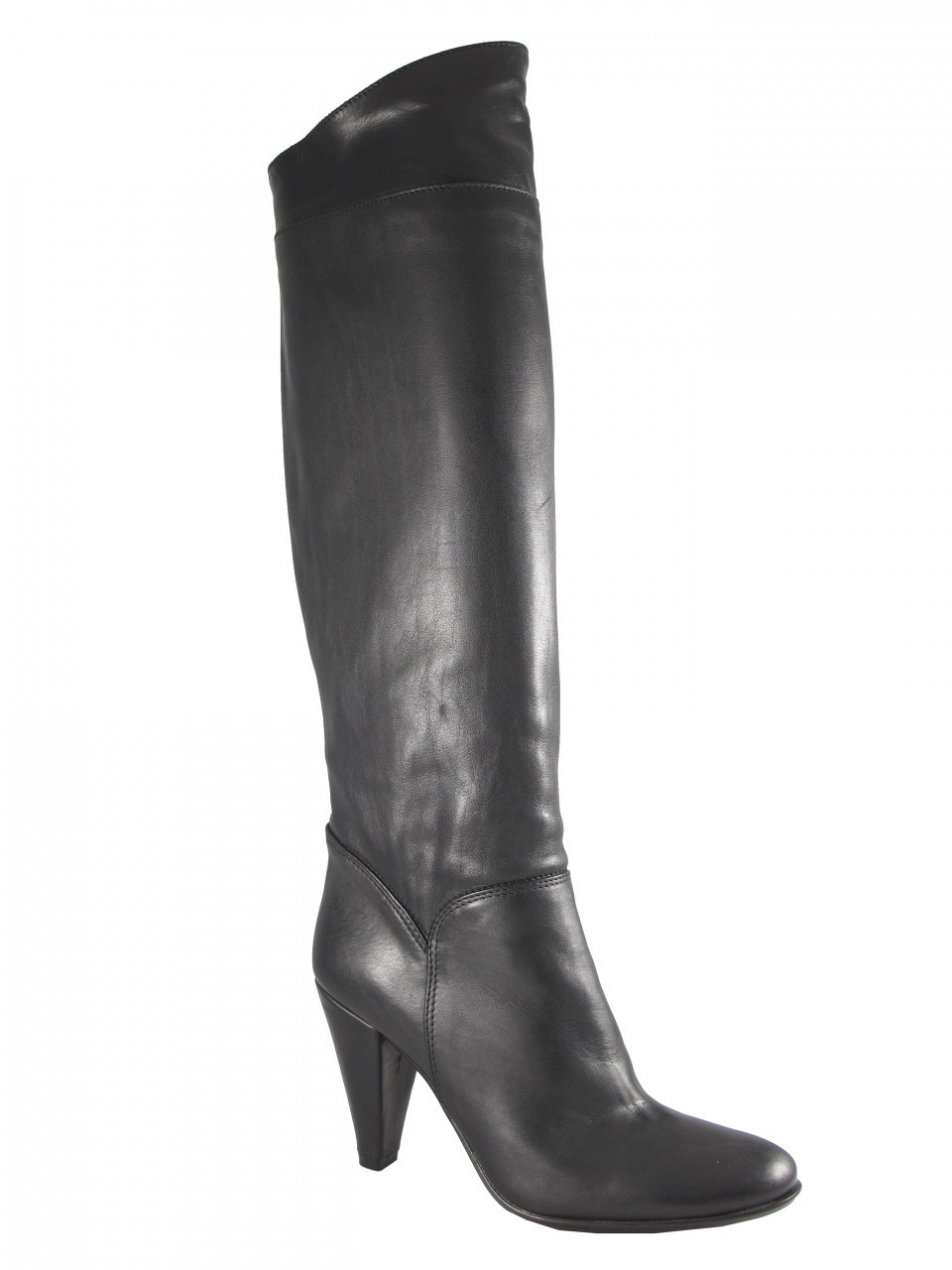 bad3cdbb647 Women's Davinci Low Heel Knee High Italian Leather Boots By Piampiani 498