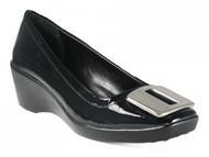 BCBG Women's Tina Wedge Heels in Black
