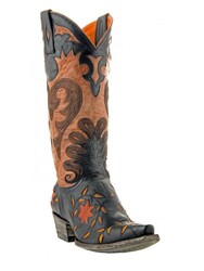 "Womens Old Gringo L1115-1 Letty 13"" Vesuvio Black/Oryx"