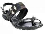 Women's Davinci Italian Leather Push In Toe Flat Sandals By Lamica 1025