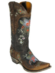 Old Gringo Bonnie L649 Women's floral  Cowboy Boots  In Brass