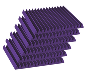 "Auralex 6x 4"" x 24"" x 24"" Studiofoam Wedge Panels, Purple"