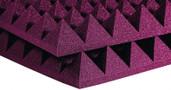 """Auralex 6x 4"""" x 24"""" x 24"""" Studiofoam Pyramid, Purple"""