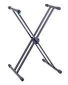 K&M 18995 Double-Braced X-Stand Keyboard Stand - Black