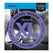 D'Addario EXL115BT Nickel Wound Medium Gauge Electric Guitar Strings