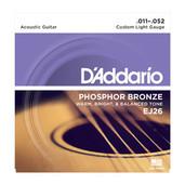 D'Addario EJ26 Phosphor Bronze Acoustic Guitar Strings, Custom Light