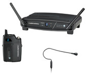 Audio-Technica System-10 ATW-R1100 Receiver, ATW-T1001 UniPak Transmitter System & PRO 92cW Headworn Mic