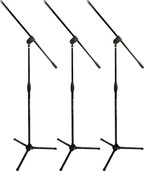 Ultimate Support MC-40B Pro - 3 Pack Microphone Stand W/ Boom
