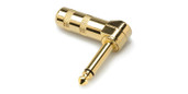 Hosa PRG-370AU BULK Connector Right-angle 1/4 in TS, Gold-plated