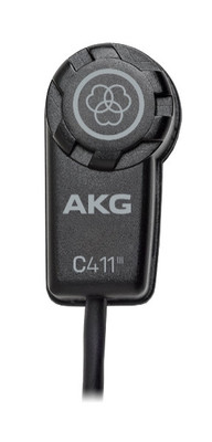 AKG C411 L/ PP High-Performance Miniature Condenser Vibration Pickup