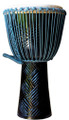 "Turquoise Ebony Weave Pro Djembe by Freedom Drums 24"" x 12"""