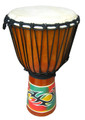 "Tribal Painted Djembe: 24"" x 11"""