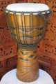 "Carved Abstract Djembe: 20"" x 10"""