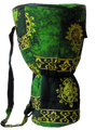 "Green Celestial Djembe Bag: 24"" x 13.5"""
