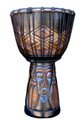 "Tribal Faces Djembe: 24"" x 12"""