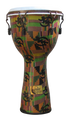 Key-Tuned Djembe-Kente Fiberglass by Freedom Drums - Medium (Fiber Skin)