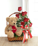 A Teddy With Roses