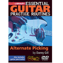 "Alternate Picking. (Essential Guitar Practice Routines). By Danny Gill. For Guitar (Guitar). Lick Library. DVD. Lick Library #RDR0178. Published by Lick Library.  Expand and develop your string picking technique with Danny Gill. One of the most frequently asked questions in the field of guitar education is ""What do I practice?"" This excellent DVD series provides lessons and pieces of music exclusively written for practicing essential guitar techniques. By combining the technique lessons with the music and learning the piece from start to finish, you will not only improve your ability, but also get a sense of achievement and fun from practicing. Danny Gill is a former pupil of Joe Satriani, and co-author of the Musicians Institute Rock Guitar series. His songs have appeared on TV shows including 'The Osbournes' and film sound tracks such as 'Insomnia' and 'Under Siege'."