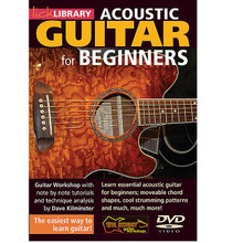 Acoustic Guitar for Beginners by Dave Kilminster. For Guitar (Guitar). Lick Library. DVD. Lick Library #RDR0068. Published by Lick Library.  Are you a complete beginner? Or maybe you had some lessons once and got discouraged because you found it too difficult? If so, this is the DVD for you! It shows you the easiest possible way of playing guitar, with no pointless exercises or inane, nursery rhyme type tunes, just good, inspirational music. Although aimed at the complete beginner, players of all levels can gain from these valuable insights and approaches including tuning, movable chord shapes, cool strumming patterns and much, much more.The DVD is presented by Dave Kilminster who transcribes, writes and records for 'Guitar Techniques' magazine, as well as the occasional guest columns in Guitarist, and is currently playing (and singing!) with the Keith Emerson Band.