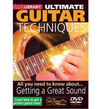 All You Need to Know About Getting a Great Sound. (Ultimate Guitar Techniques Series). By Michael Casswell. For Guitar. Lick Library. DVD. Lick Library #RDR0031. Published by Lick Library.  A complete guide to getting a great tone with Michael Casswell. This groundbreaking DVD teaches you all you need to know to get the very best sound from your guitar and amp. Whether you are using a basic setup or a professional rig, learn how to get any sound from clean funk to new metal! Michael Casswell is a highly sought after freelance guitarist and producer. He has played and toured with many well known bands and artists as diverse as Brian May * Cozy Powell *and Ronan Keating to name just a few. His playing can be heard on numerous film and TV soundtracks.