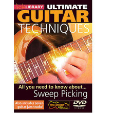 All You Need to Know About Sweep Picking Techniques. (Ultimate Guitar Techniques Series). By Stuart Bull. For Guitar (Guitar). Lick Library. DVD. Lick Library #RDR0064. Published by Lick Library.  Learn everything you need to know about sweep picking techniques. This groundbreaking DVD helps you develop your sweep picking techniques from simple arpeggios right through to complicated patterns. Includes seven jam tracks! Stuart Bull has taught tens of thousands of guitarists worldwide through the award winning TOTAL ACCURACY guitar series.