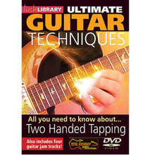 All You Need to Know About Two Handed Tapping. (Ultimate Guitar Techniques Series). By Stuart Bull. For Guitar (Guitar). Lick Library. DVD. Lick Library #RDR0069. Published by Lick Library.  This DVD contains everything you need to become a tapping ninja. From one string scale and arpeggio ideas to full blown multi fingered taps blazing accross the fretboard. This lesson will add speed, fluidity and fire to your licks, includes guitar jam tracks, This DVD is presented by Stuart Bull who has taught tens of thousands of guitarists worldwide through the award winning TOTAL ACCURACY guitar series.