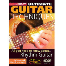 All You Need to Know About Rhythm Guitar. (Ultimate Guitar Techniques Series). By Richard Smith and Steve Trovato. For Guitar (Guitar). Lick Library. DVD. Lick Library #RDR0110. Published by Lick Library.  Learn to play cool rhythm patterns with Steve Trovato and Richard Smith. This groundbreaking DVD teaches you all you need to know to become a one piece rhythm section, combining percussive techniques and chord progressions! Styles covered include Rock, Blues, Jazz and Latin grooves! Steve Trovato is best known as a world class country guitarist, but is equally proficient in a wide range of popular guitar styles. He has written a number of best selling guitar instruction books and between touring maintains a full time position in the Guitar Department at the University of Southern California. Richard Smith is a leading guitar tutor who has given concerts and masterclasses throughout the USA and Europe.