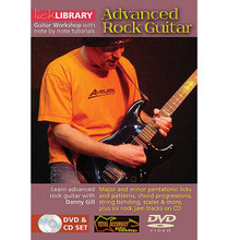 Advanced Rock Guitar. (Guitar Workshop with Note-for-Note Tutorials). By Danny Gill. For Guitar (Guitar). Lick Library. DVD. Lick Library #RDR0015. Published by Lick Library.  In this DVD, Danny takes an in-depth look at the major scale modes and has you soloing with them instantly! Other subjects include: the harmonic minor scale, the harmonized major scale and secondary dominants. If you're looking to take your playing to the next level, this DVD/CD package will help get you there! Also included is a CD with 10 jam tracks that will help develop your chops. This excellent DVD is hosted by Danny Gill, a former student of Joe Satriani and co-author of Musicians Institutes Rock Lead Guitar series.