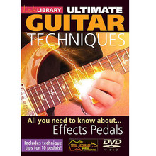 All You Need to Know About Effects Pedals. (Ultimate Guitar Techniques Series). By Michael Casswell. For Guitar. Lick Library. DVD. Lick Library #RDR0027. Published by Lick Library.  A complete guide to effects pedals with Michael Casswell. This groundbreaking DVD teaches you all you need to know about effects pedals, new and old, and guides you through the various combinations and sounds that can be achieved by pedals including: Flanger * Wah Wah * Distortion * Compression * Delay * Reverb * Volume pedal * and many more! Michael Casswell is a highly sought after freelance guitarist and producer. He has played and toured with many well known bands and artists as diverse as Brian May * Cozy Powell * and Ronan Keating to name just a few. His playing can be heard on numerous film and TV soundtracks.