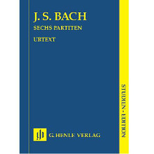 6 Partitas BWV 825-830 (Study Score).  By Johann Sebastian Bach (1685-1750). Edited by Rudolf Steglich. For Piano (Study Score). STUDY EDITION. Henle Study Scores. Pages: IX and 126. Softcover. 136 pages. G. Henle #HN9028. Published by G. Henle.  Contents:      Bach: Partita 2 C Minor Bwv 826     Bach: Partita 3 A Minor Bwv 827     Bach: Partita 5 G Major Bwv 829     Bach: Partita 6 E Minor Bwv 830     Bach: Partita 1 B Flat Major Bwv 825     Bach: Partita 4 D Major Bwv 828