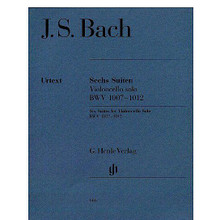 6 Suites for Violoncello Solo BWV 1007-1012 (Cello Solo). By Johann Sebastian Bach (1685-1750). Edited by Egon Voss. For Cello. Violoncello. Henle Music Folios. Pages: XII and 64, 2 Vc Parts = V and 56 each. Softcover. G. Henle #HN666. Published by G. Henle.  The most important source for Bach's Cello Suites is a copy made by his wife Anna Magdalena because the autograph is no longer extant. As further copies show, the actual musical text is scarcely problematic. However, the slurs, which are particularly important for string instruments, are very inexact and compel the editor to make difficult decisions. Our practical edition, HN 666, is in two parts. It not only offers the Urtext edition – with preface and critical commentary – but also a part for playing. The new study edition contains the Urtext part, but in addition offers a reproduction of Anna Magdalena's copy. This means that both cellists and music lovers alike are able to form their own opinion about the much discussed problems.  Contents:     Bach: Suite D Minor Bwv 1008     Bach: Suite G Major Bwv 1007     Bach: Suite C Major Bwv 1009     Bach: Suite (Skordatur) C Minor Bwv 1011     Bach: Suite D Major Bwv 1012     Bach: Appendix: 5th Suite In Pitch Notation C Minor Bwv 1011     Bach: Suite E Flat Major Bwv 1010