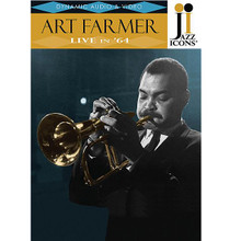 Art Farmer - Live in '64. (Jazz Icons DVD). By Art Farmer. For Trumpet, Flugelhorn. DVD. DVD. Jazz Icons #2119019. Published by Jazz Icons.  Jazz Icons DVDs feature full-length concerts and in-studio performances by the greatest legends of jazz, filmed all over the world from the 1950s through the 1970s. Beautifully transferred from the original masters, each DVD features rare performances that have never been officially released on home video and, in many cases, were never broadcast. Each DVD includes a booklet with liner notes, rare photos and a memorabilia collage. Produced with the full support and cooperation of the artists or their estates.  This DVD highlights an amazing one hour Art Farmer concert from 1964 featuring the great flugelhornist in his prime. Farmer's top-notch band includes legendary guitarist Jim Hall (fresh from Sonny Rollins' band), drummer Pete LaRoca and Steve Swallow on bass. This legendary ensemble plays both standards and originals with ease and finesse and highlights why Farmer was considered one of the most innovative horn players in all of jazz. 60 minutes.