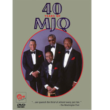 40 Years of MJQ by Modern Jazz Quartet. Live/DVD. DVD. VIEW Video #2350. Published by VIEW Video.  The Modern Jazz Quartet traces its origins to Dizzy Gillespie and his bebop big band. Filmed live in Germany, pianist and composer John Lewis, bassist Percy Heath, vibraphonist extraordinaire Milt Jackson and drummer Micky Roker (subbing for Connie Kay) perform in this unforgettable performance that defines the dignity of jazz. 58 minutes plus multiple bonus features.Songs include: Sketch • Alexander's Fugue • A Day in Dubrovnik • Adagio from Concierto de Aranjues and more.