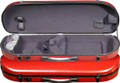 Fiber Composite Violin Case, Contoured Oblong Red-4/4