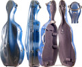 Fiber Composite Cello Case Blue, CC8000-1-BU - 4/4