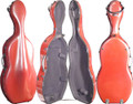 Fiber Composite Cello Case Red, CC8000-1-R - 4/4