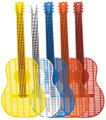Guitar Flyswatter - Large Asst Colors