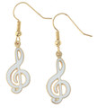 G-Clef Earrings - White