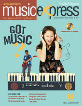 Got Music? Vol. 12 No. 4. (January/February 2012). By Renee Fleming and Taio Cruz. By John Higgins, John Jacobson, Kirby Shaw, Mac Huff, Roger Emerson, and Taio Cruz. For Choral (Teacher Magazine w/CD). Music Express. 64 pages. Published by Hal Leonard.  Songs: I've Got Music!, Dynamite (Taio Cruz), Faster Higher Stronger, I'm Gonna Sit at the Welcome Table, Whack Attack, Any Kid Could Be President, Spotlight: Renee Fleming, Luigi's Listening Lab: Rondeau (Mouret), John Jacobson's Musical Planet: Greece, and more! Teacher Magazine includes Lesson Plans correlated to the National Standards, and 1 Enhanced Audio CD that includes the Amazing Slow Downer and PDFs of selected material. Digital and Premium Paks include a Digital Student Magazine on CD-ROM for interactive projection in the music classroom.