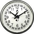 "Wall Clock Keyboard G-Clef - 18"" Round"