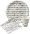 Sheet Music Paper Cups 9 oz.