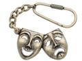 Comedy/Tragedy Antique Brass Keychain