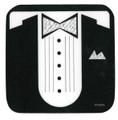 Sheet Music Tux Vinyl Coaster