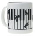 Kitten On The Keys Mug - White