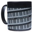 Spiral Keyboard Mug - Black