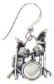 Sterling Silver Music Earrings: The Drum
