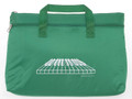 Keyboard Double Zipper Portfolio - Green